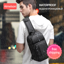 Multifunction Crossbody Bags Men USB Charging Chest Pack Short Trip Messengers Bag Water Repellent Shoulder Male