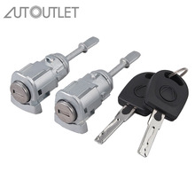 AUTOUTLET 2 pcs Lock Cylinder Door Lock Left Right for V W PASSAT B5 3B0837167 3B0837168