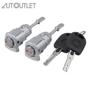 Image 1 - AUTOUTLET 2 pcs Lock Cylinder Door Lock Left Right for V W PASSAT B5 3B0837167 3B0837168
