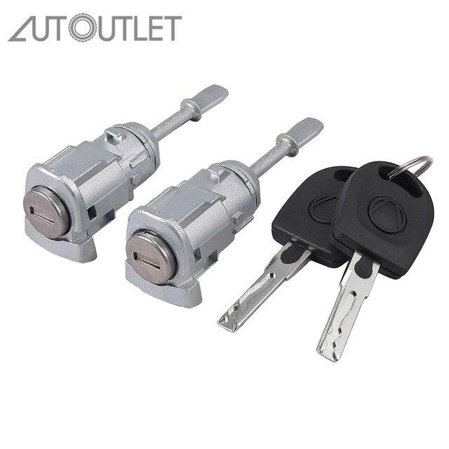AUTOUTLET 2 pcs Lock Cylinder Door Lock Left Right for V W PASSAT B5 3B0837167 3B0837168