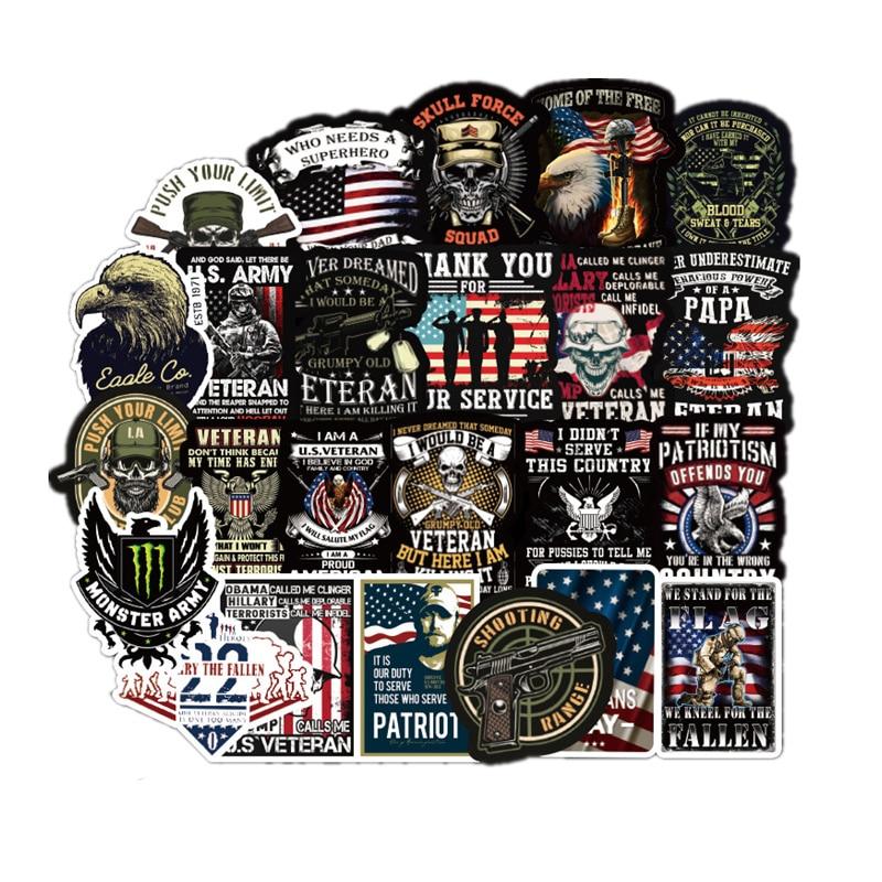 Commemorative U.S Army  Veteran America Retro Stickers For Laptop Car Pad Luggage Phone Bicycle Waterproof Graffiti Sticker