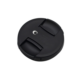 High-quality 49 52 55 58 62 67 72 77 82mm center pinch Snap-on cap cover logo for canon camera Lens