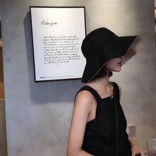 лучшая цена 2019 Hot Sale foldable Female sun hat Anti-UV sombrero Fashionable panama hat straw visor women sun visor caps Super Wide Brim