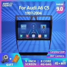 2DIN Android 9,0 Auto Radio Für Audi A6 C5 1997-2004 S6 2 1999-2004 RS6 1 2002-2006 auto Video Player Navi GPS DSP WIFI 2 Din DVD
