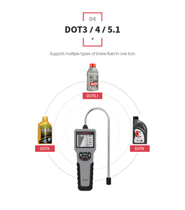 Image 5 - EDIAG Auto Brems Flüssigkeit Tester BF100 BF200 für DOT 3 DOT4 DOT 5,1 Hohe auflösung LCD Display Genaue Öl Qualität überprüfen Tester