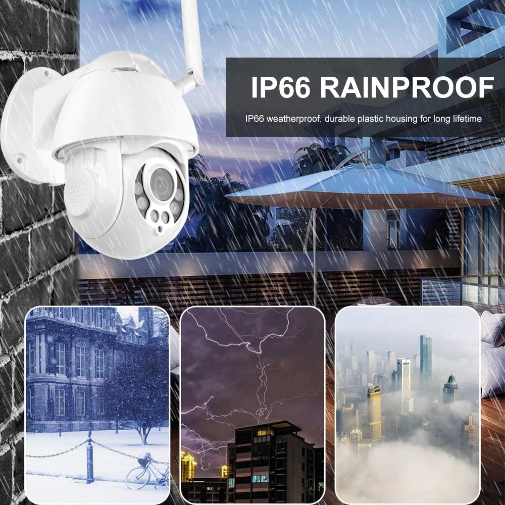 KuWFi HD1080P WiFi IP Kamera PTZ Auto Tracking 4X Zoom Zwei-weg Audio Wasserdichte Outdoor Sicherheit Kamera