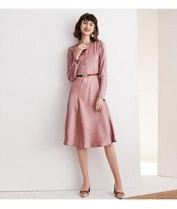 Image 3 - גבוהה כיתה אצטט סאטן שמלת אלגנטי הזדקנות ורוד