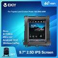 EKIY 4G LTE Android 10 Автомобильный мультимедийный проигрыватель в стиле Теслы для Toyota Land Cruiser Prado 120 2002-2009 GPS-навигация Радио 2 DIN