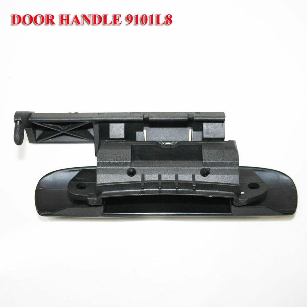 Poignée de porte extérieure noire lisse avant gauche pour Citroen Xsara 1997-2005 9101L8 722647 016401P CI4208002