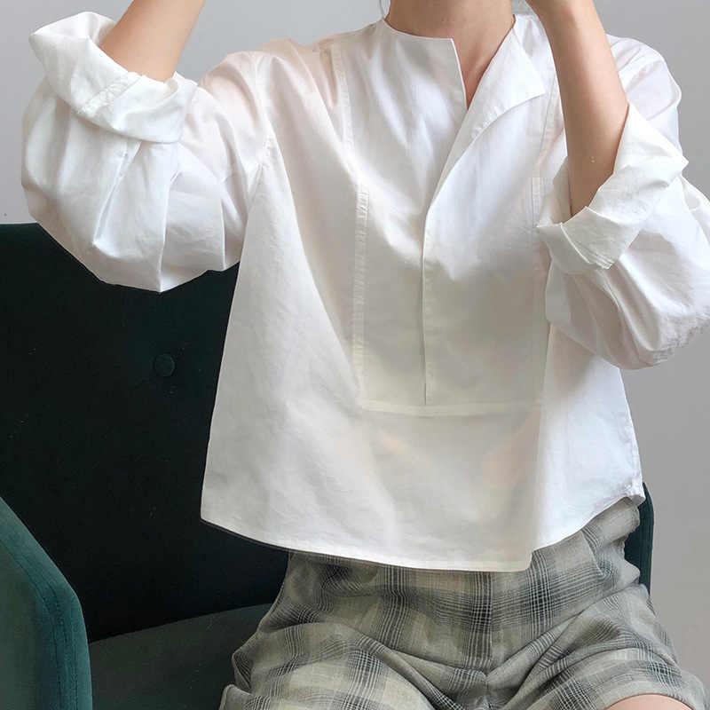 2020 Vrouwen Blouses Turn Down Kraag Plaid Gestreepte Womens Tops En Blouses Lente Vintage Shirts Blusas Roupa Feminina Kleding