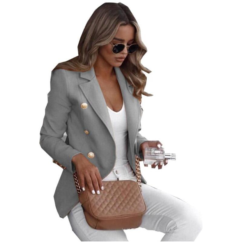 women blazers Plus Size Long Sleeve Jacket Suit Casual Solid Versatile Slim Short Blazer Office Lady Women blazer feminino coat