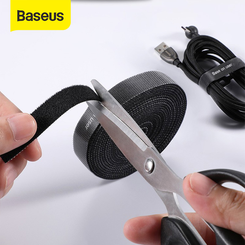 Baseus Cable Organizer Wire Winder Clip Earphone Holder Mouse Cord Protector HDMI Cable Management For iPhone Samsung USB Cable