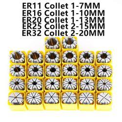 ER8 ER11 ER16 ER20 ER32 ER40 chuck collet set  Spring Collet 0.008 accuracy For CNC Lathe tools Engraving Machine Lathe Tool