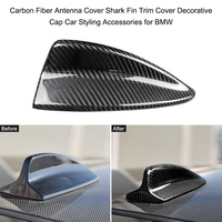 KKMOON 1pc Car Carbon Fiber Antenna Shark Fin Cover Trim Car Styling Accessories Antenna Cover for BMW E90 E46 E92 M3 E60 E61