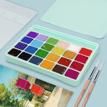 Gouache-Paint-Set Palette Watercolor Painting Artists Non-Toxic 18/24-Colors with 30ml