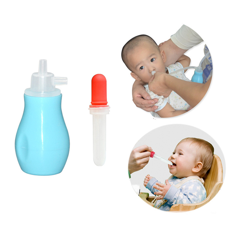 Newborn Baby Food Grade Silicone Safety Adjustable Nose Cleaner Vacuum Suction Nasal Aspirator Mother Care Kid Silicone Tool set