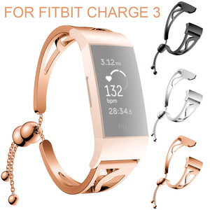 Smart watch band For Fitbit Charge 3 Luxurious Fashion Bracelet Replacement Girls WatchBand Wirstband Strap For Fitbit Charge 3(China)