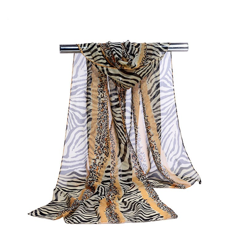 160*50cm Spring And Summer Stripe Woman Scarf Chiffon Scarf Women Pareo Wrap Sunscreen Long Cape