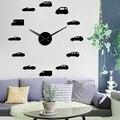 Декоративные часы для мальчиков с изображениями автомобилей  большие настенные часы «сделай сам»  винтажные Подвесные часы для домашнего д...