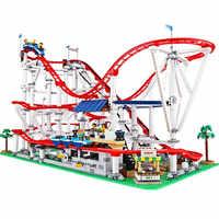 Technic brick parts legoinglys 15039 Roller Coaster Set Building Blocks creator expert Educational Toys Birthday christmas Gifts