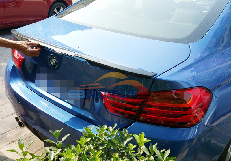 Real Carbon FIber M4 Look Style Trunk Boot Lip Spoiler For BMW F32 4-Series Coupe Non-M4 2014UP B187