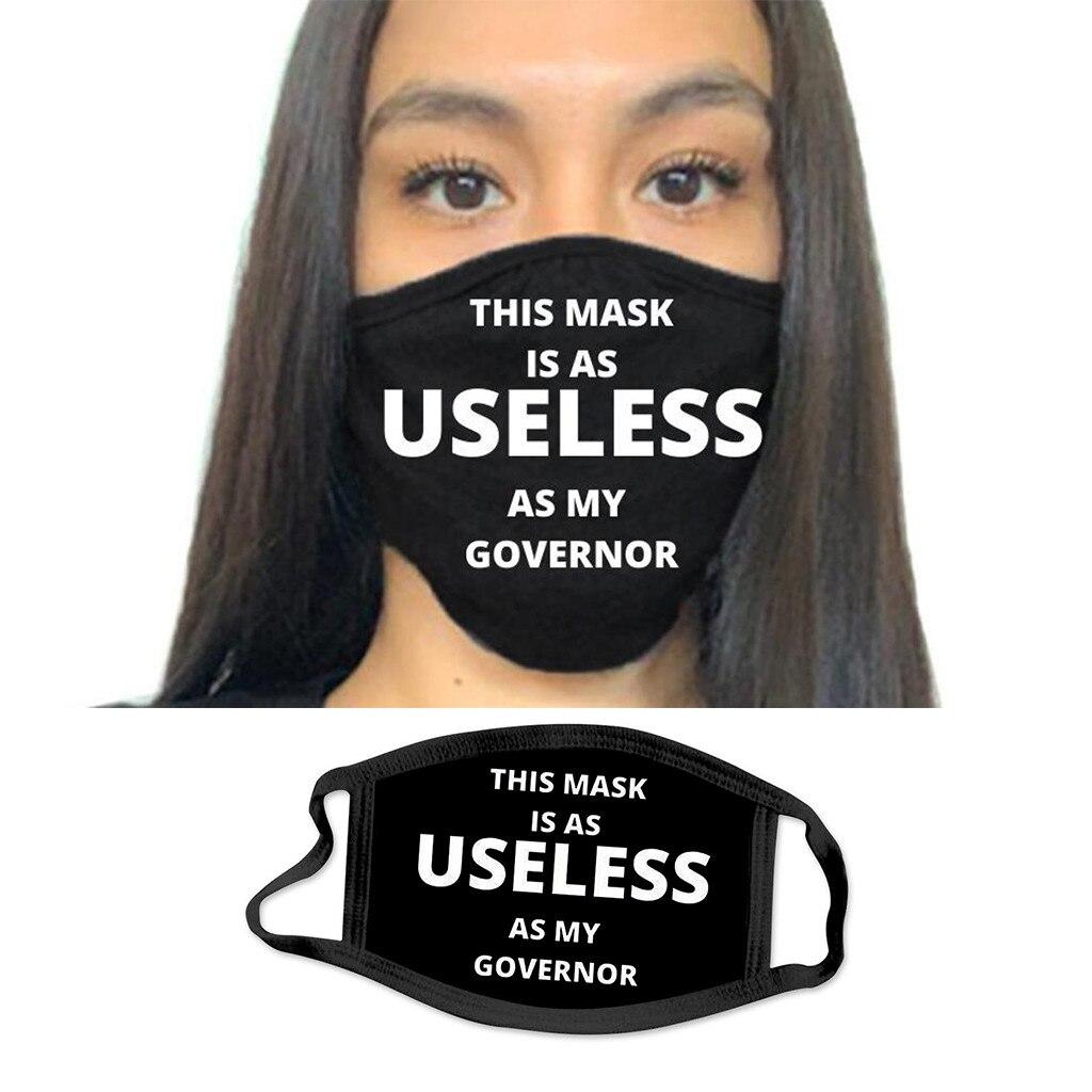 Модная маска с буквенным принтом, противопылевая хлопковая маска для лица, респиратор для мужчин и женщин, защитные маски, маски, колпачки д...
