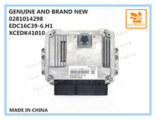 순수하고 새로운 ECU 0281014298, 엔진 제어 장치 EDC16C39 6.H1, XCEDK41010
