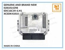 حقيقي والعلامة التجارية الجديدة ECU 0281014298 ، وحدة تحكم المحرك EDC16C39 6.H1 ، xsidk41010