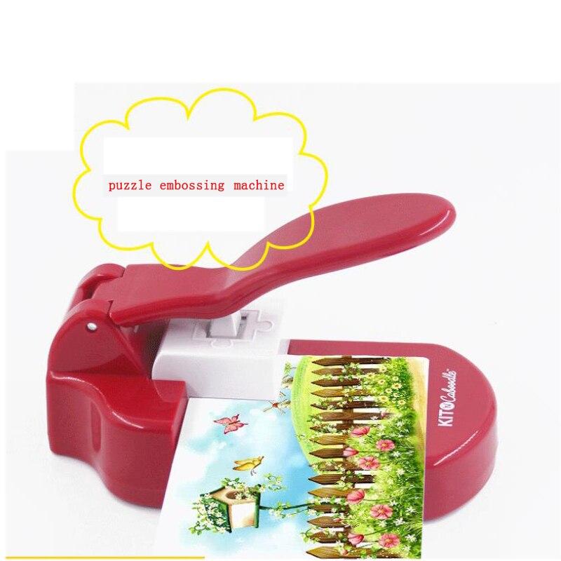 Bricolage puzzle coupe gaufrage Machine puzzle fabricant artisanat poinçon outils de bricolage perforateur pratique