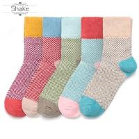 Women Knits Socks Winter Casual Wool Warm Cotton Christmas sock customized