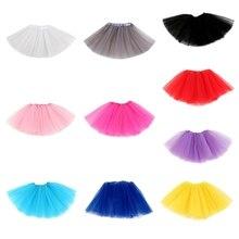 Детская танцевальная юбка-пачка для маленьких девочек, многослойная фатиновая юбка-американка с блестками для малышей, Детская шифоновая юбка
