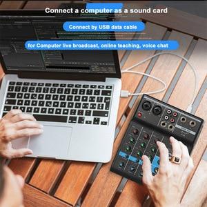 Image 4 - Console de mixage Audio professionnelle de mélangeur de bluetooth de 4 canaux avec leffet de réverbération pour le karaoké à la maison