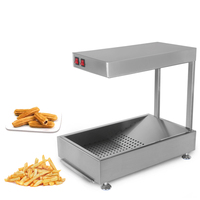 ITOP Commercial Churros Warmer Showcase Potato Chips Fried Chicken Electric Food Display Cabinet Warming Showcase 220V