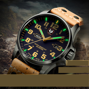 New Male Quartz Watches Self-illuminating 20ATM Mineral Glass Stainless Steel Outdoor Tritium Trachea Diving Wrist watch for Men comparison of smoking trachea and normal trachea gasencx 0058