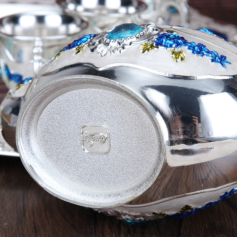Europeo di Design Creativo Variopinto Della Lega di Vino Set Scrivania A Casa Bar Ware Vestito di Metallo Durevole Fiaschetta 8 Pezzo Set kitchen Craft - 3