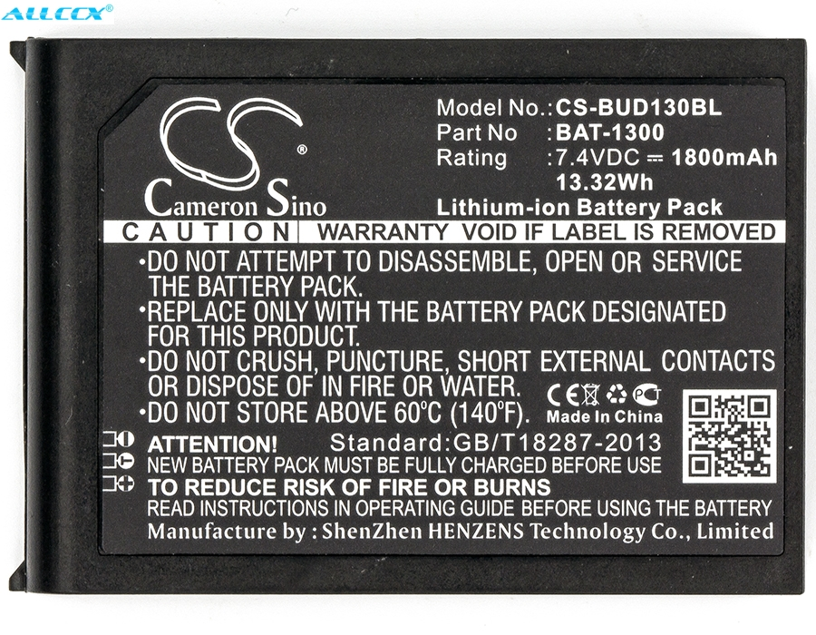 Cameron Sino 1800mAh Battery BAT-1300 For Bluebird Pidion BIP-1300