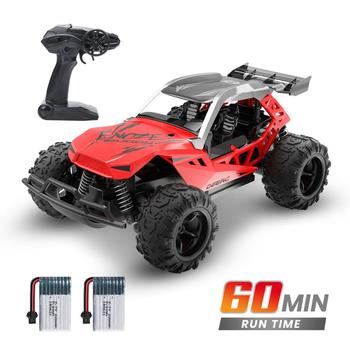 DEERC 1:22 Racing RC Car Rock Crawler Radio Control Truck 60 Mins Play Time 20 KM/H 2.4 GHz Drift Buggy Toy Car For Kids 1