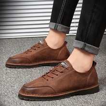 Fashion Hand made Flats Oxfords Loafers Moccasins High Quality Genuine Leather Men Shoes