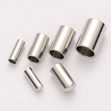 50pcs 2/3/4/5mm Stainless Steel End Caps Crimp Leather Cord Wire Metal End Cap Crimps Clasps for Jewelry Making Components DIY