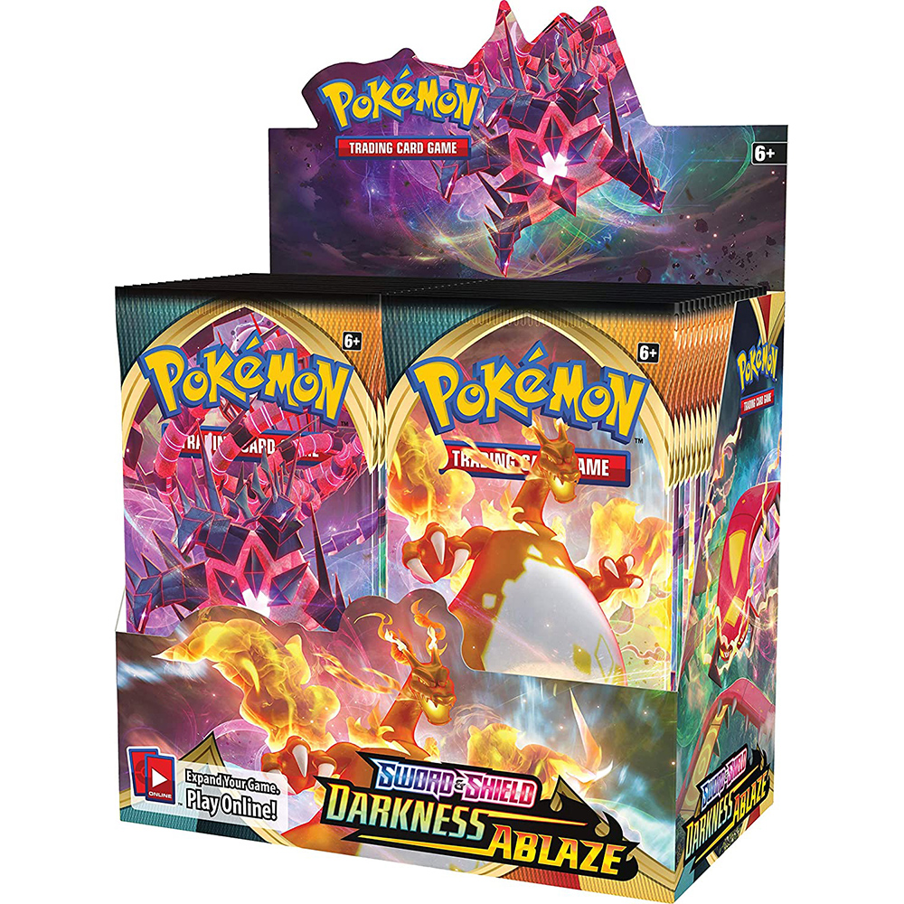 324Pcs Pokemon Cards TCG Series Darkness Ablaze Sword&Shield Booster Box 36 Bags Collection Trading Card Game Kids Toys
