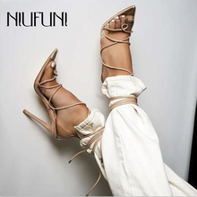 NIUFUNI Pointed Toe Transparent Ankle Strap Women Sandals Wedding Party Stiletto High Heels Clear Summer Shoes Ladies Pumps dijigirls sexy closed pointed clear sandals high heels ladies party shoes womens heels ankle buckle pumps thin heel sandales