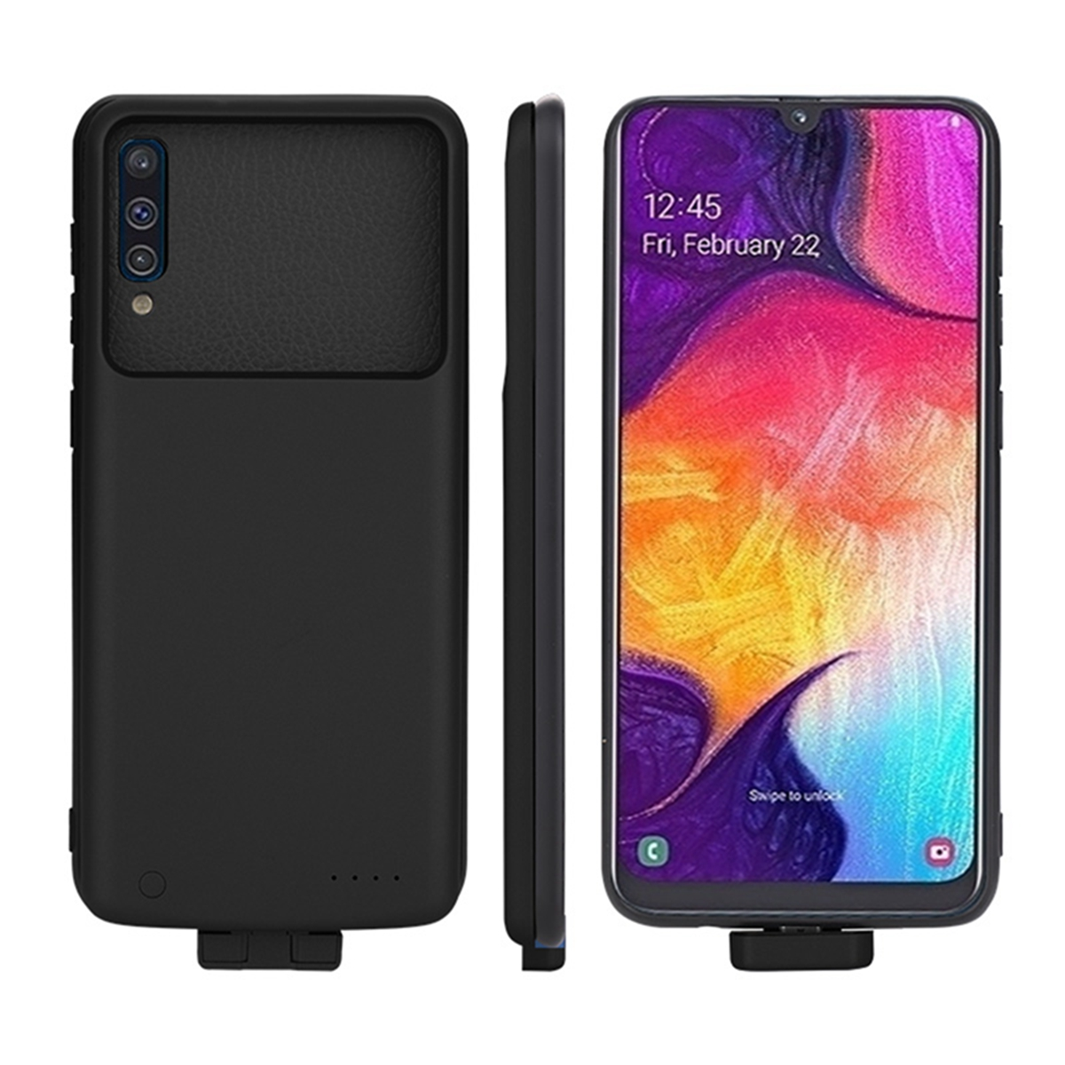 For Samsung A50 Battery Charger Case 7000mAh External Backup Power Bank Shockproof Charging Cover For Samsung A50 Case Battery