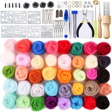 LMDZ 345PCS Soft Felt Fabric Non-woven Felt Fabric Sheet Patchwork DIY Sewing Dolls Crafts Craft Kit Starter Hand Spinning Fiber