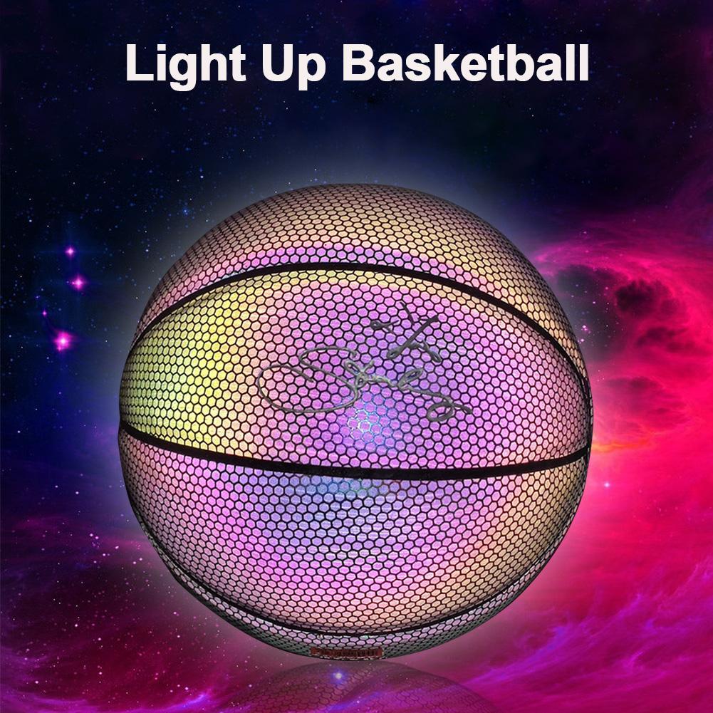 Basketball Light Up Ball Battery-Free PU Glow In The Dark Basketball Fluorescent Bright After Sun Shine Weight Size 7 Light-up
