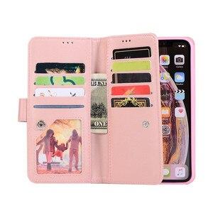 Image 3 - יוקרה עור ארנק עבור iPhone 12 מיני 11 פרו מקסימום Flip בלינג מקרה עבור iPhone X XS MAX XR 6 6s 7 8 בתוספת רוכסן כרטיס חריצי כיסוי