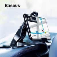 Baseus tablero de instrumentos soporte de teléfono para iPhone X soporte de montaje de Clip ajustable para Samsung soporte de teléfono móvil