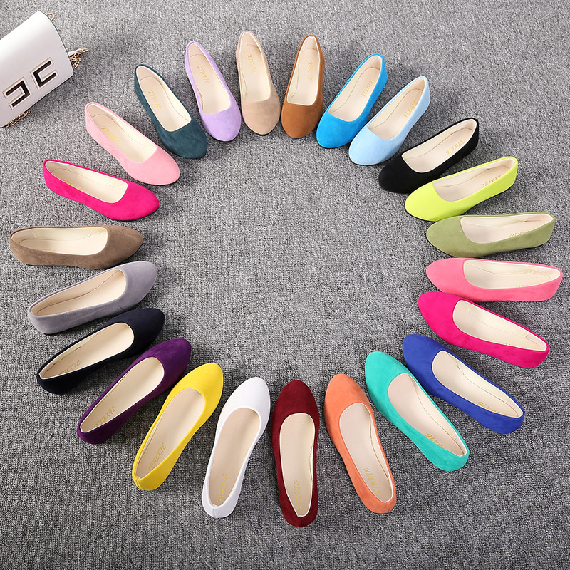 Women's Flat Casual Shoes Sweet Multicolor Work Shoes Pregnant Women On Foot Large Size Female  Shoes Zapatos De Mujer