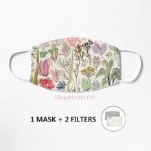 Masque facial en tissu de coton lavable unisexe, affiche vintage, 100% coton