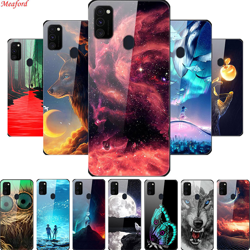 Cover For <font><b>Samsung</b></font> Galaxy <font><b>M30s</b></font> A51 A71 A50 Phone <font><b>Case</b></font> Soft Frame Luxury <font><b>Glass</b></font> Back <font><b>Case</b></font> For <font><b>Samsung</b></font> <font><b>M30s</b></font> A71 A50 A51 <font><b>Case</b></font> Bumper image