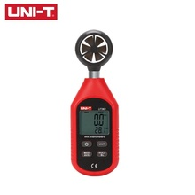 UNI-T UT363 Digital LCD Anemometer Thermometer Handheld Wind Air Speed Temperature Mini Thermometers Meter